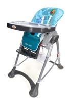 Krzesełko do karmienia Baby Maxi DUŻE- niebiesko-szare