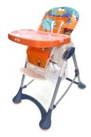 Krzesełko do karmienia Baby Maxi DUŻE- szaro-pomarańczowe