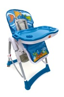 Krzesełko do karmienia Baby Maxi ROZKŁADANE- NIEBIESKIE