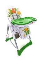 Krzesełko do karmienia Baby Maxi ROZKŁADANE- ZIELONO-BIAŁE