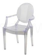 Krzesło - Fotel - przeźroczysty Loretta