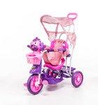 Rowerek trójkołowy dla dzieci piesek różowy
