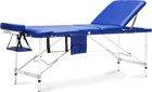 Stół, łóżko do masażu Aluminiowe 3 segmentowe niebieskie XXL