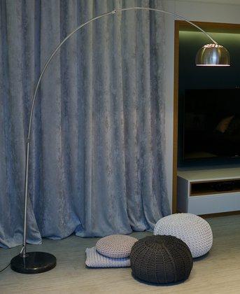 Lampa stojąca Lounge Deal ECO stal szczotkowana