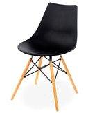Krzesło plastikowe Mindy czarne