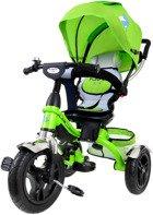 Rowerek trójkołowy z obracanym siedziskiem TROLLEY - zielony