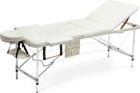 Stół, łóżko do masażu 3 segmentowe aluminiowe XXL