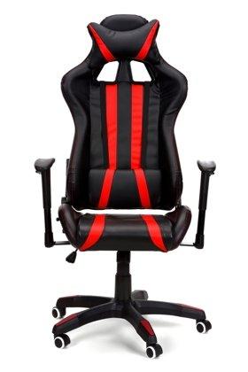 Fotel biurowy GAMER czarno-czerwony