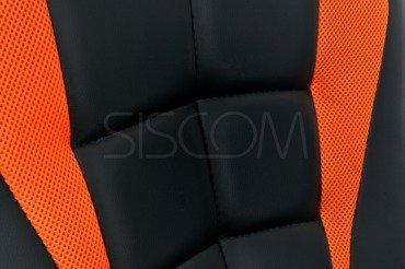 Fotel biurowy Sport czarno-pomarańczowy