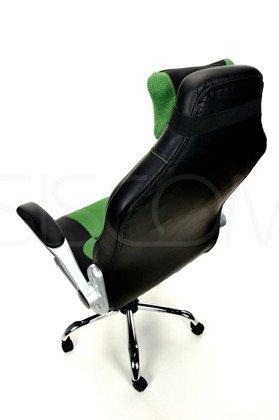 Fotel biurowy Sport czarno-zielony