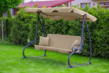 "Huśtawka ogrodowa ""Relax Plus"" beżowa"