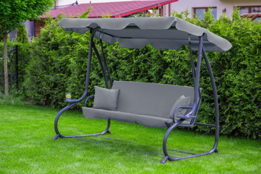 "Huśtawka ogrodowa ""Relax Plus"" szara"