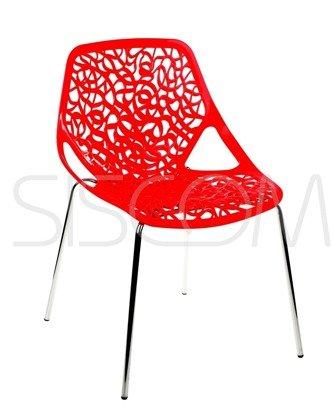 Krzesło Ażurowe Gerardo czerwone