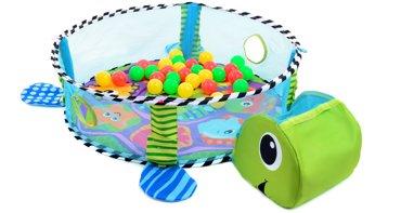 Mata edukacyjna z piłeczkami - Żółw