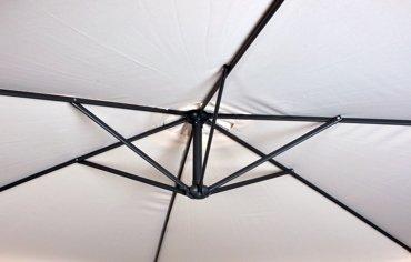 Parasol Ogrodowy Furnide na wysięgniku bocznym, składany
