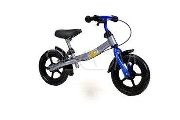 """Rowerek biegowy metalowy 12"""" szaro - niebieski"""