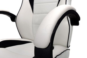 Sportowy Fotel Biurowy XRacer RS BIAŁO-CZARNY