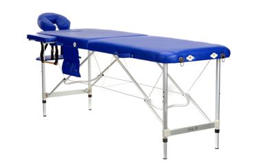 Stół, łóżko aluminiowe do masażu Niebieskie 2 segmentowe