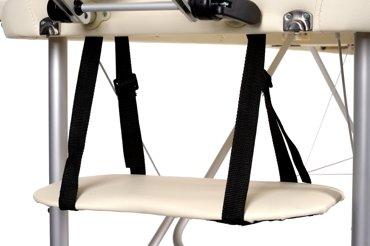 Stół, łóżko do masażu Aluminiowe 2 segmentowe beżowe XXL