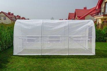 Tunel foliowy Biały z oknami - 9m2 = 450*200*200