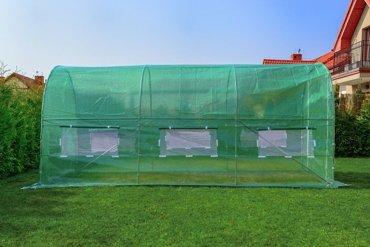 Tunel foliowy ZIELONY z oknami- 9m2 = 450*200*200